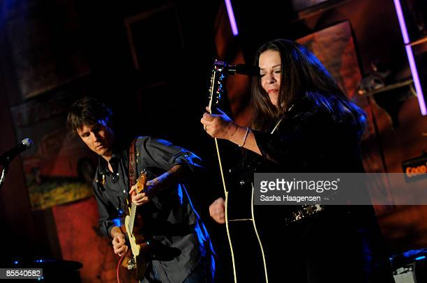 Carlene Carter performs at the DirecTV Live showcase during SXSW at the Bat Bar in the Austin Convention Center on March 20 2009 in Austin Texas