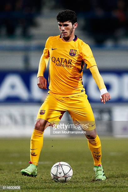 Carles Alena Castillo of Barcelona in action during the UEFA Youth League Quarterfinal match between Anderlecht and Barcelona held at Van Roy Stadium...