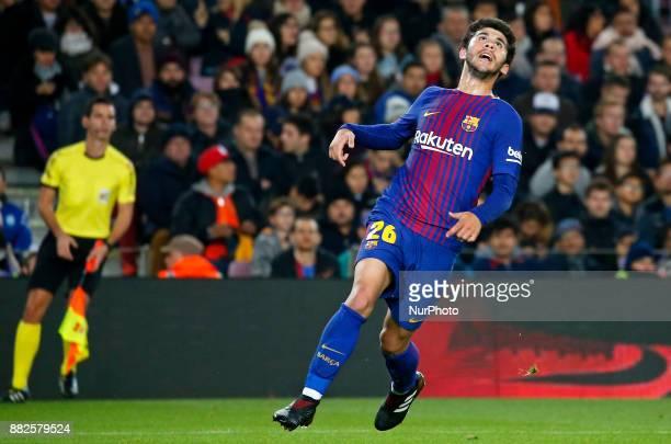 Carles Alena during the Copa del Rey match between FC Barcelona v Real Murcia CFi n Barcelona on November 29 2017