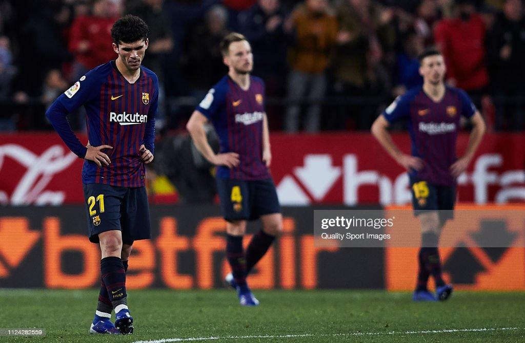 Sevilla v FC Barcelona - Copa del Rey Quarter Final : ニュース写真