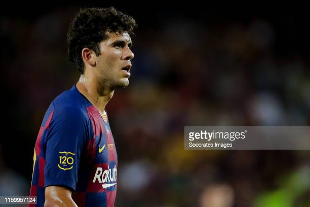 Carles Alena of FC Barcelona during the Club Friendly match between FC Barcelona v Arsenal at the Camp Nou on August 4 2019 in Barcelona Spain