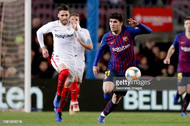 Carles Alena of FC Barcelona during the Spanish Copa del Rey match between FC Barcelona v Sevilla at the Camp Nou on January 30 2019 in Barcelona...