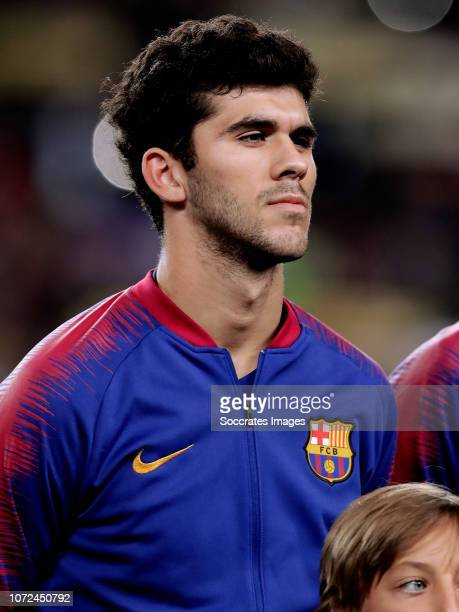 Carles Alena of FC Barcelona during the UEFA Champions League match between FC Barcelona v Tottenham Hotspur at the Camp Nou on December 11 2018 in...