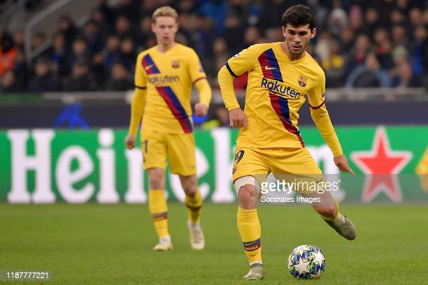 Carles Alena of FC Barcelona during the UEFA Champions League match between Internazionale v FC Barcelona at the San Siro on December 10 2019 in...