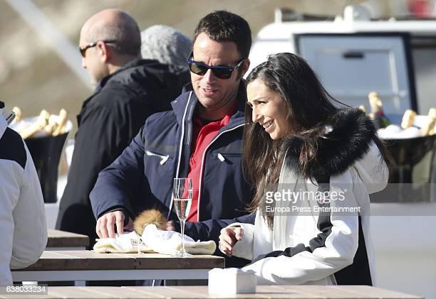 Carles Francino and Izah attend Moet Winter Lounge In Baqueira ski resort on December 5 2016 in Baqueira Beret Spain