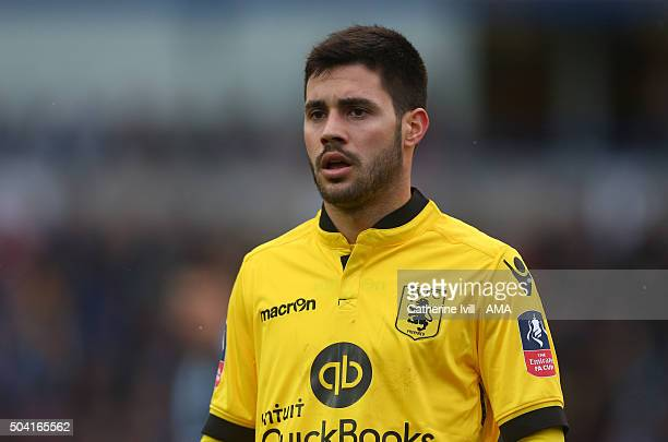 Carles Gil of Aston Villa during the Emirates FA Cup Third Round match between Wycombe Wanderers and Aston Villa at Adams Park on January 9 2016 in...
