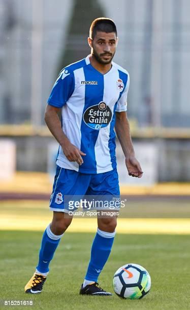 Carles Gil of Deportivo de La Coruna in action during the preseason friendly match between Club Silva SD and Deportivo de La Coruna at Estadio...