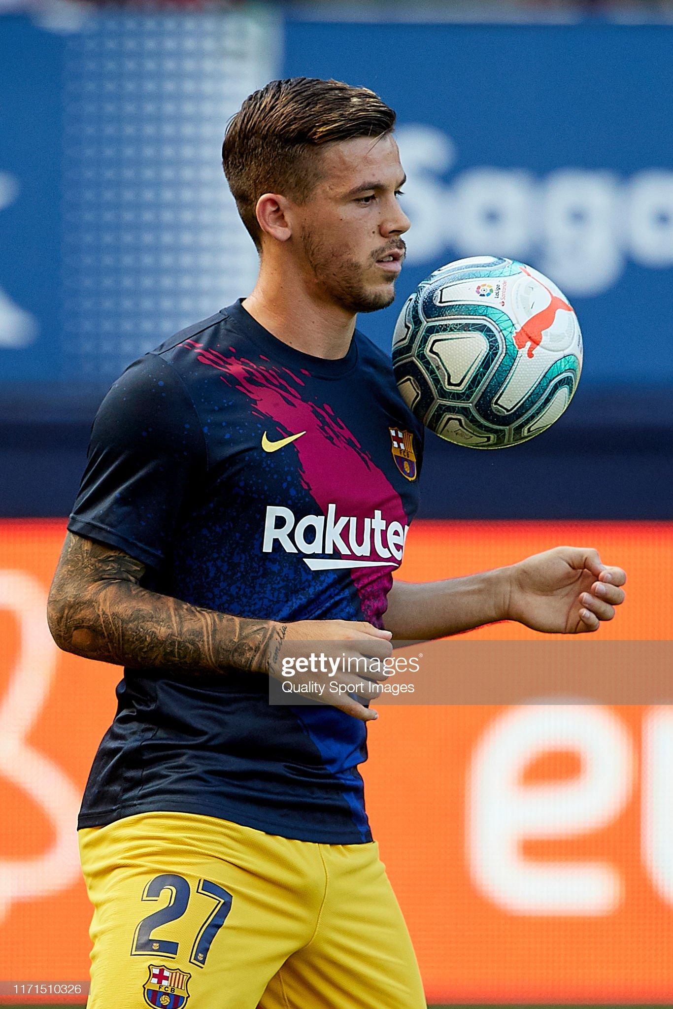 صور مباراة : أوساسونا - برشلونة 2-2 ( 31-08-2019 )  Carles-perez-of-fc-barcelona-during-the-prematch-warm-up-prior-to-the-picture-id1171510326?s=2048x2048