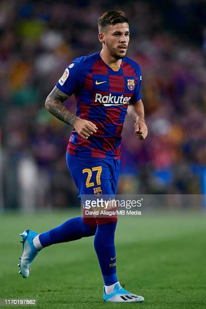 Carles Perez of FC Barcelona in action during the Liga match between FC Barcelona and Real Betis Balompie at Camp Nou on August 25 2019 in Barcelona...