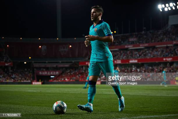 Carles Perez of FC Barcelona looks on during the la Liga match between Granada CF and FC Barcelona on September 21 2019 in Granada Spain