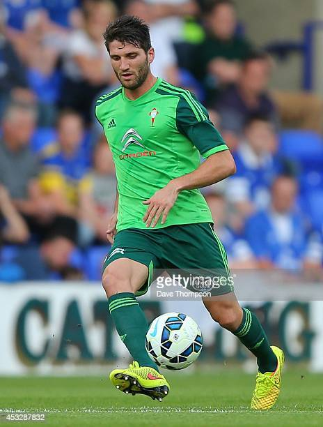 Carles Planas Antolinez of Celta Vigo during the PreSeason Friendly between Everton and Celta Vigo at Prenton Park on August 6 2014 in Birkenhead...