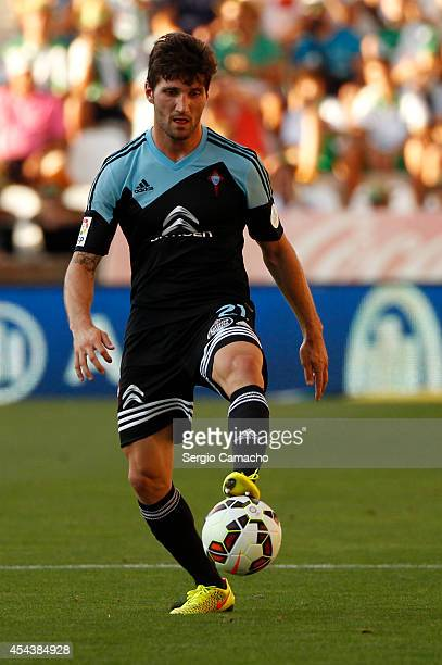 Carles Planas controls the ball during the La liga match between Cordoba CF and RC Celta de Vigo at El Arcangel studium on August 30 2014 in Cordoba...