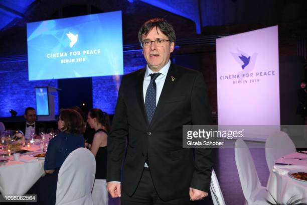 Carles Puigdemont during the Cinema for Peace Gala at the Westhafen Event & Convention Center on February 11, 2019 in Berlin, Germany.