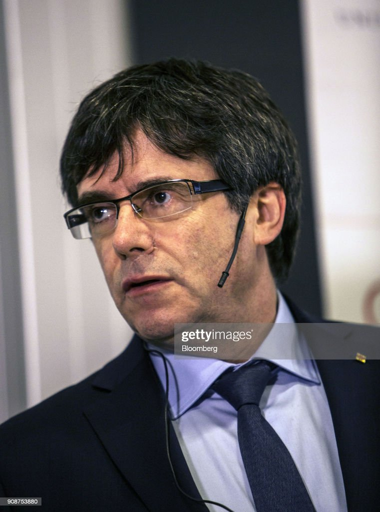 Former Catalan President Carles Puigdemont Townhall At University Of Copenhagen