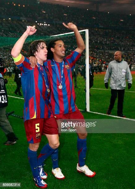 RONALDINHO / Carles PUYOL Fc Barcelone / Arsenal Finale de la Ligue des Champions Stade de France Paris