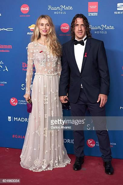 Carles Puyol and Vanesa Lorenzo attend 'Gala Sida' 2016 at Madrid City Hall on November 21 2016 in Madrid Spain
