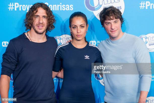 Carles Puyol Hiba Abouk and Jordi Cruz present 'Proyecto Sonrisas' by Orbit on June 19 2018 in Madrid Spain