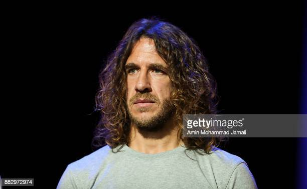 Carles Puyol looks on after the rehearsal for the 2018 FIFA World Cup Draw at the Kremlin on November 29 2017 in Moscow Russia