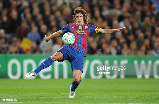 Carles Puyol of Barcelona during the UEFA Champions League SemiFinal 2nd Leg match between Barcelona and Chelsea at the Nou Camp Stadium in Barcelona...
