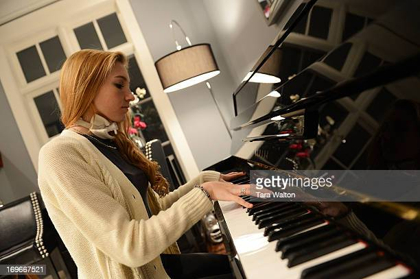 Carley Allison a 17 year old student at Bayview Glen in Toronto plays the piano Monday March 4 2013 In February Carley was diagnosed with a very rare...