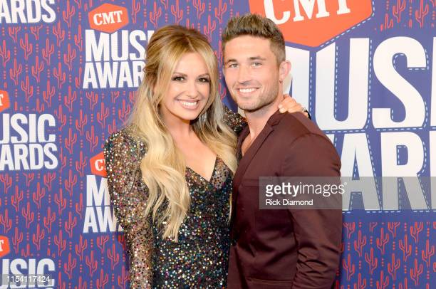 Carley Pearce and Michael Ray attend the 2019 CMT Music Awards at Bridgestone Arena on June 05 2019 in Nashville Tennessee