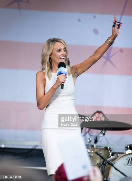 Carley Shimkus attends the FOX Friends AllAmerican Summer Concert Series July 12 2019 in New York City