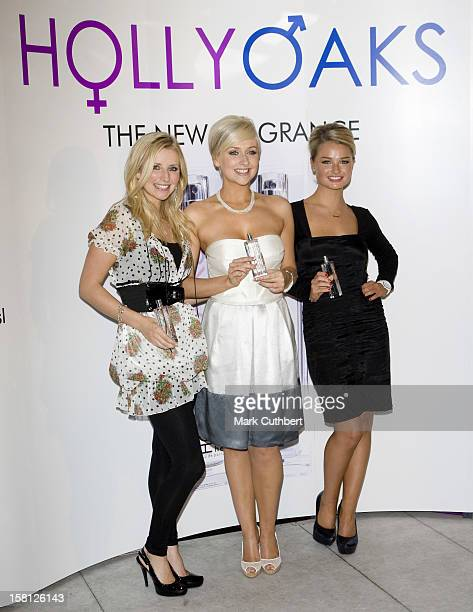 Carley Stenson, Gemma Merna And Emma Rigby Launch The New Hollyoaks His And Hers Perfumes At The Eve Club In London.