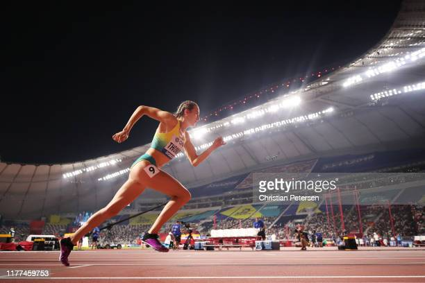 Carley Thomas of Australia competes in the Women's 800 metres heats during day one of 17th IAAF World Athletics Championships Doha 2019 at Khalifa...