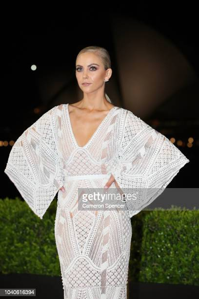 Carley Widdop arrives at the 2018 Dally M Awards at Overseas Passenger Terminal on September 26 2018 in Sydney Australia