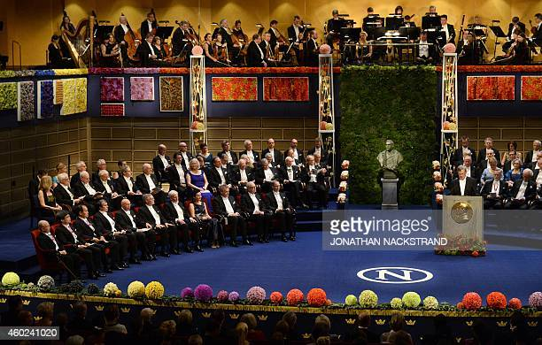 CarlHenrik Heldin Chairman of the Board of the Nobel Foundation gives his opening address at the start of the Nobel Prize award ceremony for Medicine...