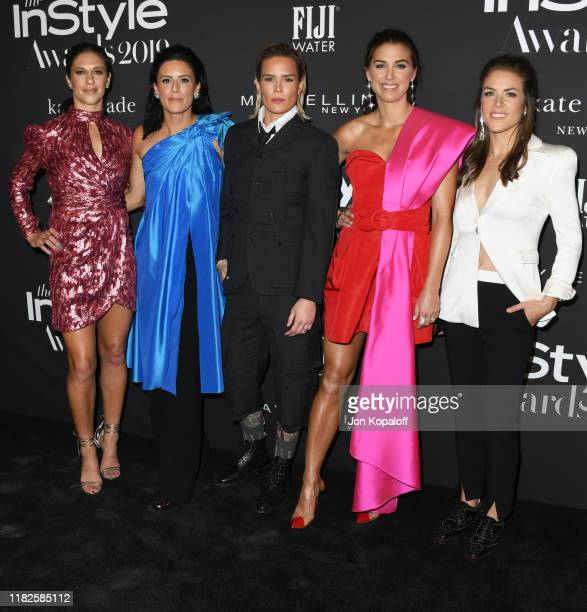 Carli Lloyd Ali Krieger Ashlyn Harris Alex Morgan and Kelley O'Hara attend the 2019 InStyle Awards at The Getty Center on October 21 2019 in Los...