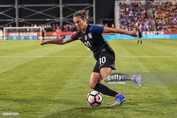 Carli Lloyd of the US Women's National Team controls the ball against Thailand on September 15 2016 at MAPFRE Stadium in Columbus Ohio The United...