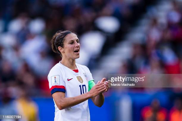 Carli Lloyd of United States celebrates her goal during the 2019 FIFA Women's World Cup France group F match between USA and Chile at Parc des...