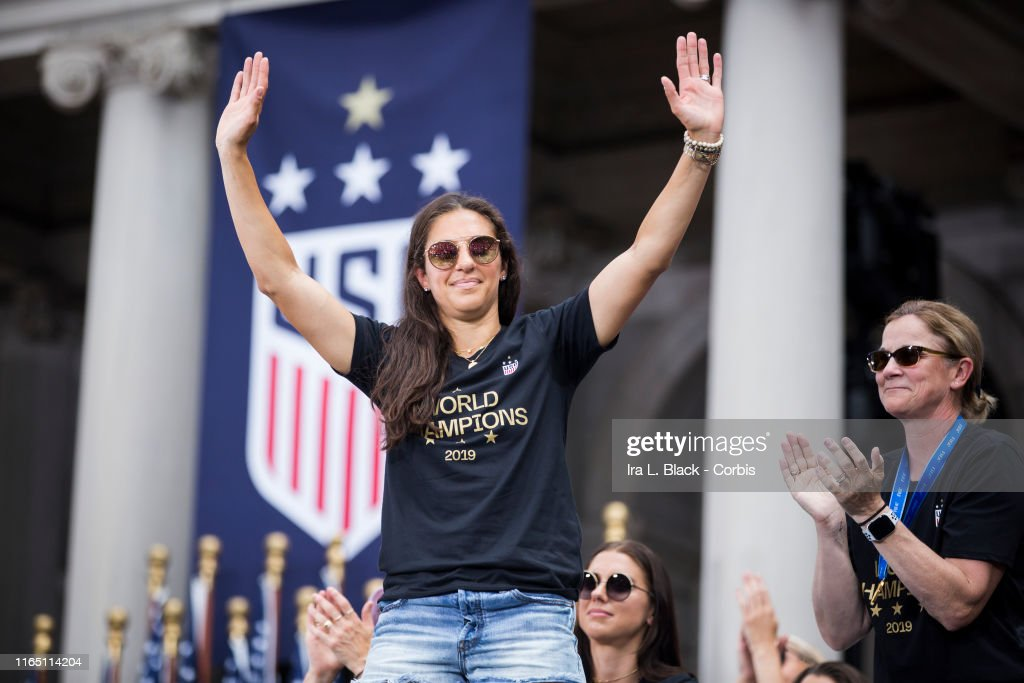 U.S. Women's National Team World Cup Champions Ticker Tape Parade : News Photo
