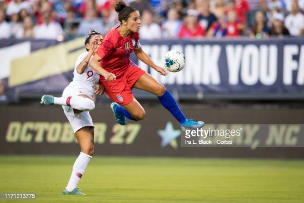 Carli Lloyd of United States of the U.S. Women's 2019 FIFA World Cup Championship looks for the shot on goal during the 1st half of the Victory Tour...