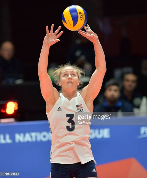 Carli Lloyd of USA in action during FIVB Volleyball Nations League on 12 June 2018 in Santa Fe Argentina The US Womens National Team lost to Serbia...