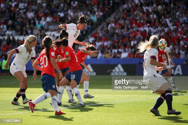Carli Lloyd of USA scores a goal to make it 30 during the 2019 FIFA Women's World Cup France group F match between USA and Chile at Parc des Princes...