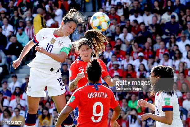 Carli Lloyd of USA Women scores the third goal to make it 30 during the World Cup Women match between USA v Chile at the Parc des Princes on June 16...
