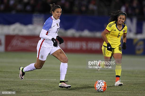 Carli Lloyd, USA, in action during the USA Vs Colombia, Women's International friendly football match at the Pratt & Whitney Stadium on April 6, 2016...