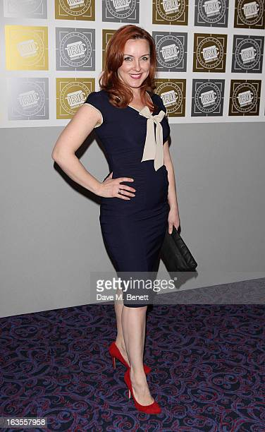 Carli Norris arrives at the TRIC Television and Radio Industries Club Awards at The Grosvenor House Hotel on March 12 2013 in London England