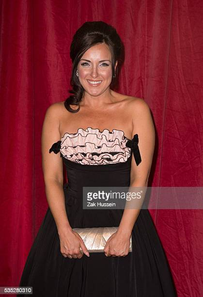Carli Norris arrives for British Soap Awards 2016 at Hackney Empire on May 28 2016 in London England