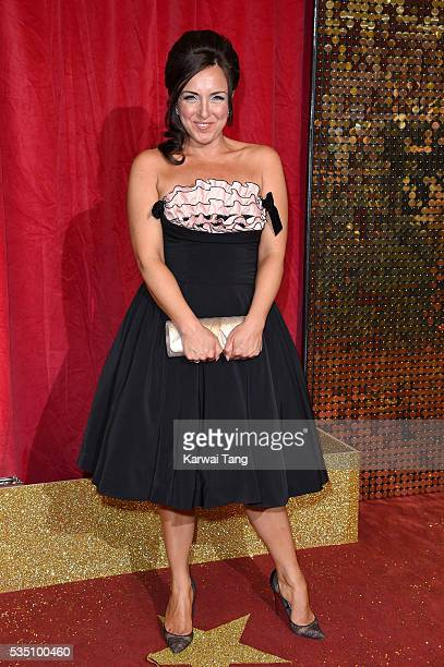 Carli Norris arrives for the British Soap Awards 2016 at the Hackney Town Hall Assembly Rooms on May 28 2016 in London England