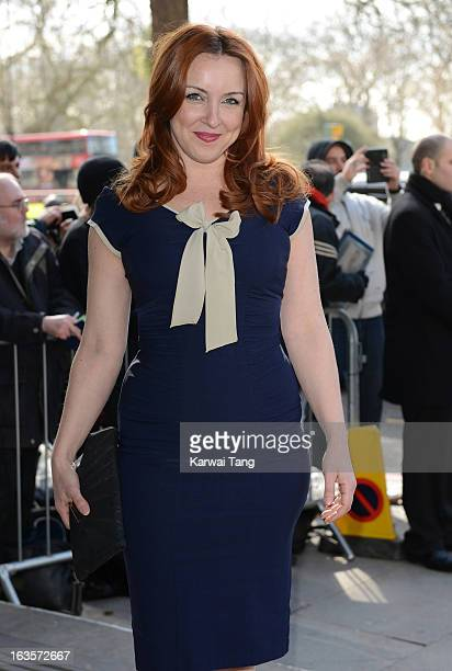 Carli Norris attends the TRIC awards at The Grosvenor House Hotel on March 12 2013 in London England