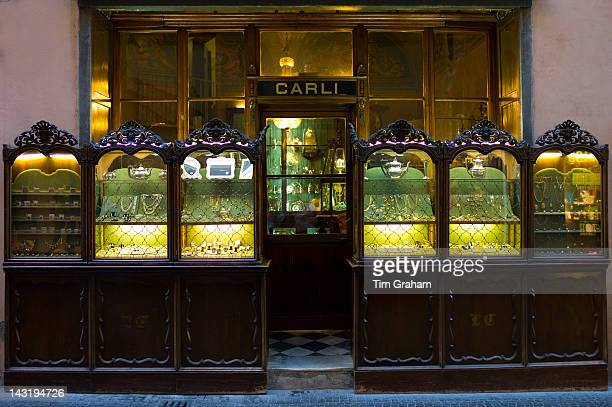 Carli traditional jewellers in Via Fillungo Lucca Italy