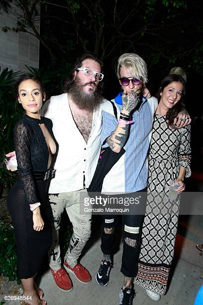 Carlie Smith Angus Smythe Chris Lavish and Chiara Crespi at the HM Hosts After Party to Celebrate Fashion Loves Art Collaboration with Alex Katz at...