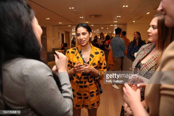Carlina Harris socializes at the opening of Freds at Barneys New York San Francisco on September 26 2018 in San Francisco California