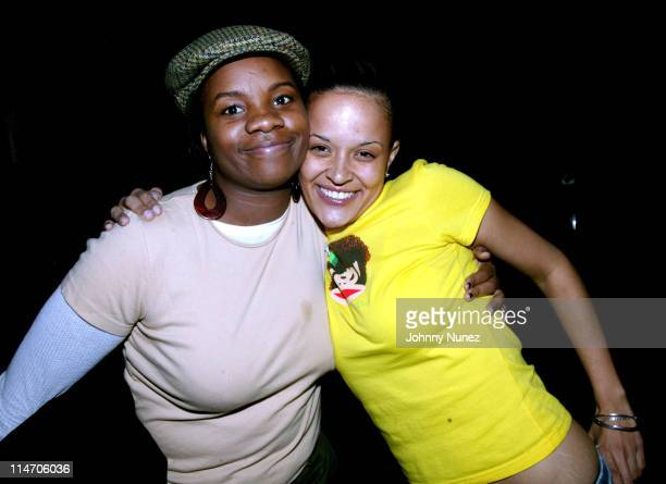 Carline Balan and Capricorn Clark during Jamal Crawford's 25th Birthday Party at 58 in New York City New York United States