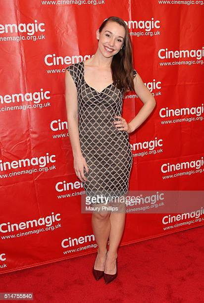 Carline Barry attends Cinemagic's Los Angeles Showcase and sneak preview of Delicate Things at Fairmont Miramar Hotel on March 10 2016 in Santa...