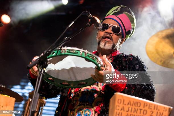 Carlinhos Brown from Tribalistas performs in concert at La Riviera on October 24 2018 in Madrid Spain