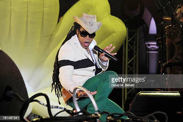 Carlinhos Brown performs at the annual Peace One Day concert at the Peace Palace on September 21 2013 in The Hague Netherlands